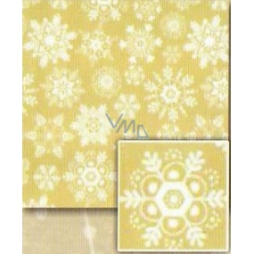 Nekupto Christmas wrapping paper Golden, white snowflakes 0,7 x 5 m