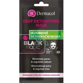 Dermacol Textile Mask 15ml Detoxifying Black Magic 4714