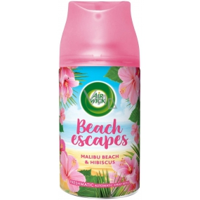 Air Wick Freshmatic Refill Malibu Beach & Hibiscus Air Freshener Refill, Stamina Up To 60 Days, With A Variety Of Hibiscus 250ml