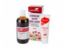 Aromatica Echinacea herbal drops for natural defenses 100 ml + Cosmin for lips 25 ml, duopack