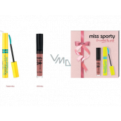 Miss Sports Studio Lash 3D Volumythic Mascara 001 Black 8 ml + Matte to Last 24h Lip Cream liquid lipstick 200 Lively Rose 3.7 ml, cosmetic set