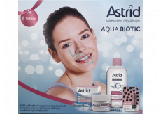 Astrid Aqua Biotic day and night cream for dry and sensitive skin 50 ml + 3 in 1 micellar water 400 ml + Trendy edition Pearl gloss toning lip balm, 4.8 g, cosmetic set