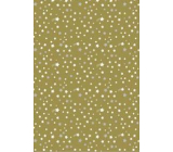 Ditipo Gift wrapping paper 70 x 200 cm Christmas golden white and silver stars