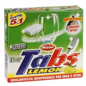 Tabs Lavastoviglie Lemon 5in1 multifunctional dishwasher tablets 16 pieces