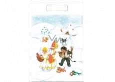 Angel Plastic bag 36 x 27 cm Nicholas, devil, angel, cottage, dog