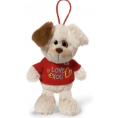 Nici Love You Dog in a T-shirt with a 15 cm curtain