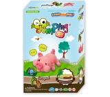 Jumping Clay Farma - Piggy bank self-drying modeling compound 51 g + paper model + make-up 5+