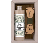 Bohemia Gifts Hunter Olive oil shower gel 250 ml + wooden bow tie, cosmetic set for men