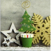 Nekupto Christmas Gift Cards green tree 6.5 x 6.5 cm 6 pieces