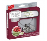 Yankee Candle Black Cherry - Ripe Cherry Car Fragrance Metal Silver Tag Charming Scents set Square 13 x 15 cm, 90 g