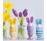 Nekupto Paper napkins 3 ply 33 x 33 cm 20 pieces Easter Tulips and eggs in the shape of a hare