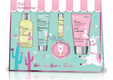 Baylis & Harding Lama bath crystals 70 g + washing gel 50 ml + shower cream 60 ml + hand cream 30 ml + lip balm 5 g, cosmetic set