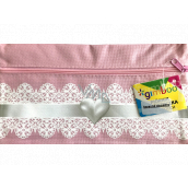 Donau Gimboo School case with zipper pink heart 22 x 12 cm