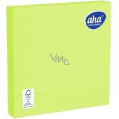 Aha Paper napkins 3 ply 33 x 33 cm 20 pieces one color lime green