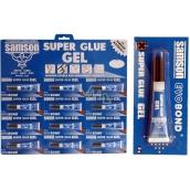 Samson Super Glue gel second glue blue 12 x 3 g