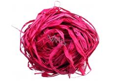 Raffia červená nabarvené lýko k dekoraci 30 g