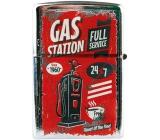 Bohemia Gifts Retro metal petrol lighter with Gas Station print 5.5 x 3.5 x 1.2 cm