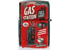 Bohemia Gifts Retro metal petrol lighter with Gas Station print 5.5 x 3.5 x 1.2 cm