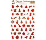 Arch Holografické dekorační samolepky vánoční různé motivy červené 830