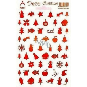 Arch Holographic decorative Christmas stickers various motifs red 830