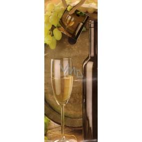 Nekupto Gift paper bag for a bottle 33 x 10 x 9 cm Wine 1339 01 KFLH