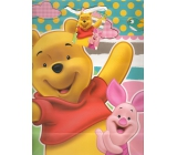 Ditipo Disney Gift Paper Bag for Kids L Winnie the Pooh, What a Fun Day! 26.4 x 12 x 32.4 cm