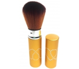 Cosmetic powder brush with gold cap 11 cm 30450-06