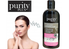 Purity Plus Charcoal Aloe vera, vitamin E and chamomile extract Chamomile detoxifying micellar water for face, eyes and lips 200 ml