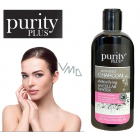 Purity Plus Charcoal Activated Carbon, Aloe Vera, Vitamin E and Chamomile Flower Extract Detoxifying and Cleansing Micellar Water for Face, Eyes and Lips 200 ml