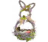 Wicker basket with lavender, hare shape 29 cm
