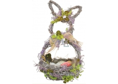 Basket wicker with lavender, hare shape 29 cm