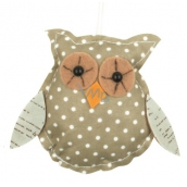 Owl for hanging green polka dot 8 cm