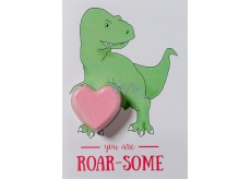 Bomb Cosmetics You are my T-rex - You Are Roarsome Sparkling greeting card with ballistics 40 g