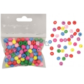 Wooden beads mix colors 0.8 cm 20 g