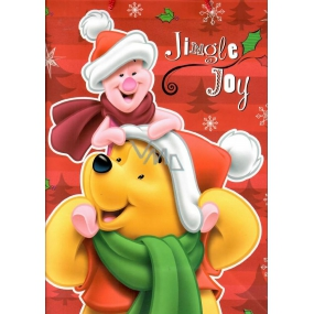Ditipo Disney Gift Paper Bag for Kids Winnie the Pooh and Piglet 26.4 x 12 x 32.4 cm L