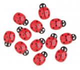 Self-adhesive ladybugs red 2 cm 12 pieces