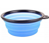 B&F Travel silicone bowl, folding blue 0.38 l