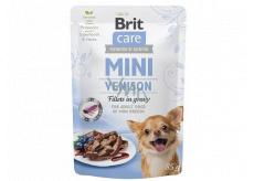 Brit Care Mini Venison Fillets In Gravy complete super premium food for adult dogs mini breeds pocket 85 g