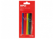 Apli Fusible sticks 7.5 mm x 10 cm, mix of colors 12 pieces