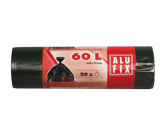 Alufix Trash bags black, 10 µ, 60 liters, 64 x71 cm, 20 pieces