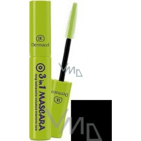 Dermacol 3 in 1 mascara shade black 10 ml