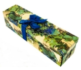 Gift box folding with bottle bowl of grapes 34 x 9,5 x 9,5 cm 1 piece