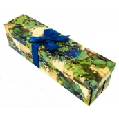 Angel Gift box folding with ribbon bottle grapes 34 x 9.5 x 9.5 cm 1 piece