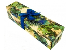 Angel Gift box collapsible with a bottle ribbon grapes 34 x 9.5 x 9.5 cm 1 piece