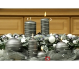 Lima Galaxy candle gray ball 60 mm 1 piece