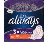 Always Platinum 3 x Triple Protection Ultra Normal Plus sanitary napkins with 10 wings