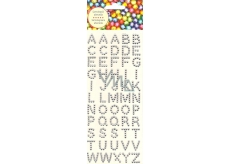 Albi Adhesive crystals alphabet silver 15 mm 55 pieces