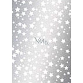 Ditipo Gift wrapping paper 70 x 500 cm Christmas silver White stars 2033913