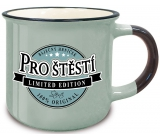 Nekupto Retro mug with the inscription For happiness 250 ml