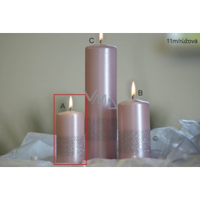 Lima Ribbon candle light pink cylinder 50 x 100 mm 1 piece